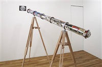 from the earth to the moon, telescope by michael rakowitz