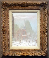 new york city in winter – st. james' episcopal church, madison and 72nd by johann berthelsen