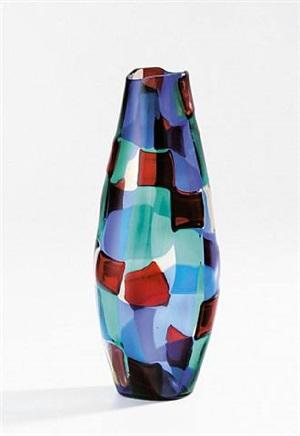 "vase ""pezzato"" by fulvio bianconi"