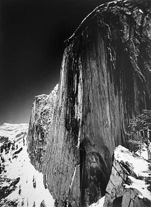 monolith, face of halfdome by ansel adams