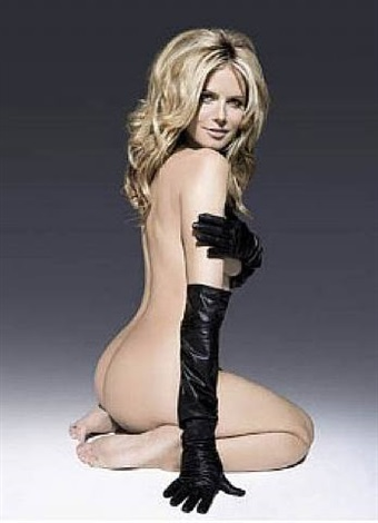 gloved heidi klum by rankin
