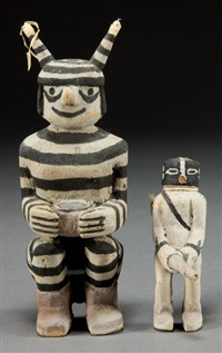 kachina dolls (2 works) by james kootshongsie
