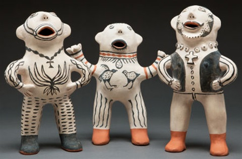 cochiti figures 3 works by martha arquero