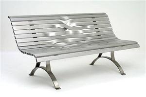 aluminium bench by pablo reinoso