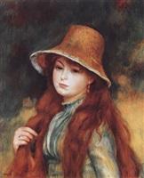 jeune fille au chapeau de paille by pierre-auguste renoir