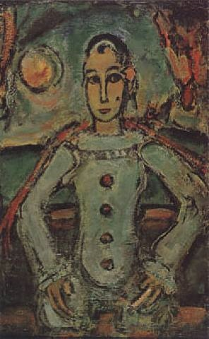pierrot aristocrate by georges rouault