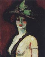 femme au grand chapeau by kees van dongen