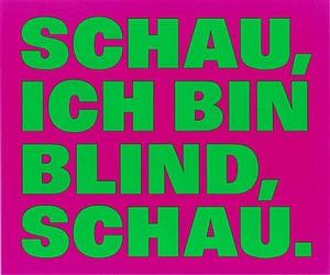 schau,/ich bin/blind,/schau. by rémy zaugg