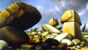 study for the boulders of avila by peter blume