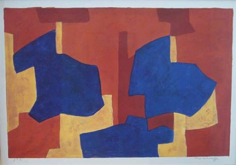 composition jaune, bleue et rouge by serge poliakoff