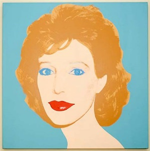 portrait of a woman (linda oxenburg) by andy warhol