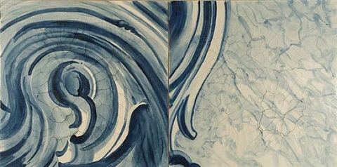 "diptico ""a onda"" (diptych ""the wave"") by adriana varejão"