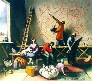 study for recollection after the flood by peter blume