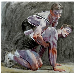 two wrestlers by mark beard