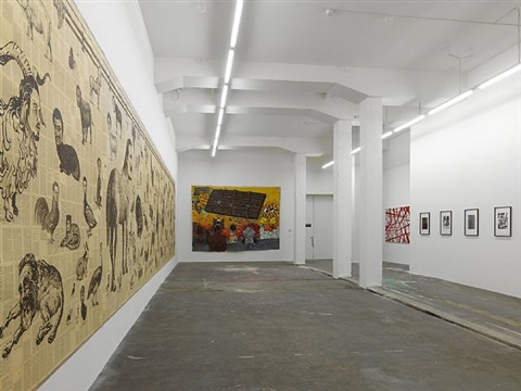 exhibition view galerie eva presenhuber by tim rollins and k.o.s.