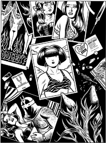 el borbah: title page: love in vein by charles burns