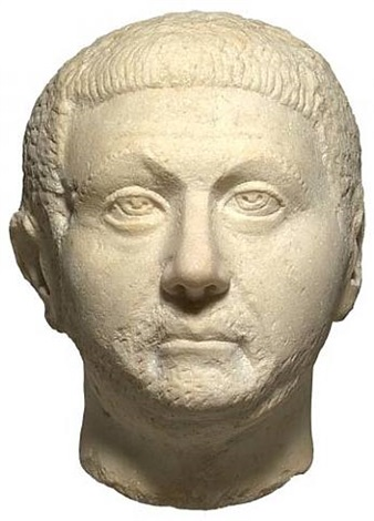 large marble head of a roman noble