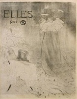 elles (black and white cover) by henri de toulouse-lautrec