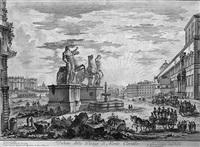 veduta della piazza di monte cavallo (the piazza del quirinale) by giovanni battista piranesi