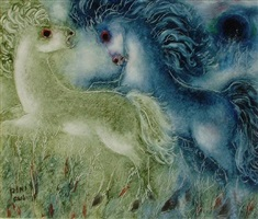 horses by reuven rubin