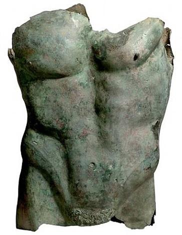 monumental roman bronze torso