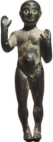 late hellenistic or early roman bronze acrobat or wrestler