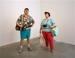 tourists ii (chelsea location) by duane hanson