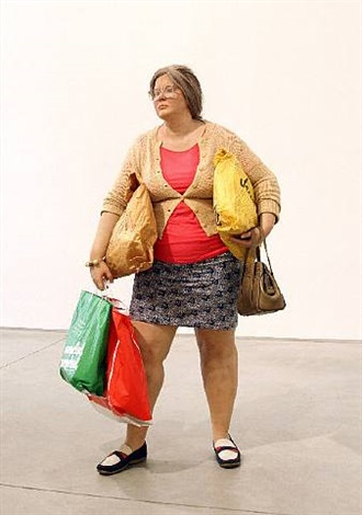 young shopper (chelsea location) by duane hanson