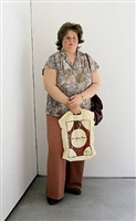 bus stop lady (chelsea location) by duane hanson