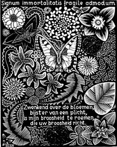 Butterfly by m c escher on artnet for Mc escher gallery