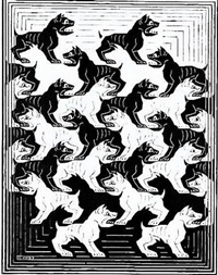 regular division of the plane iv by m. c. escher