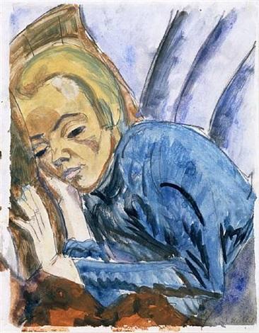 resting woman (siddi heckel) by erich heckel