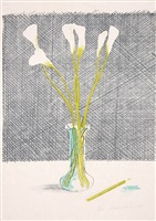 lillies (still life) by david hockney
