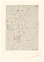 figure au col et manchettes de dentelle (figur mit spitzenkragen und -manschetten) by henri matisse