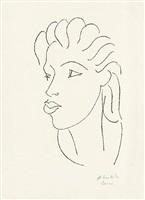 chinoise aux cheveux striés (chinesin mit gesträhntem haar) by henri matisse
