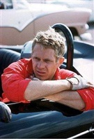 steve mcqueen at riverside raceway in his porsche speedster on april 20, 1959 by richard miller by hollywood photographers