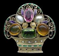 jugendstil floral brooch by theodor fahrner (co.)