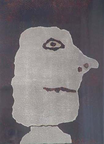 profil a droite by jean dubuffet