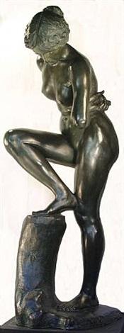 """""""badende""""( bather) by max klinger"""
