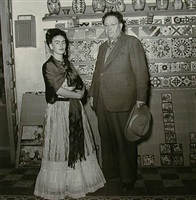artists and spouses in the pottery shed at talavera, coyoacán, mexico by leo matiz