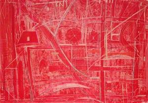 untitled (red field) by sonja sekula