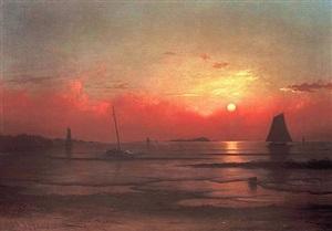 coast of newport by martin johnson heade