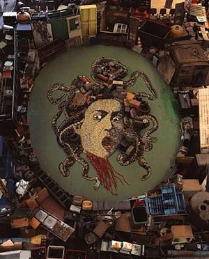 medusa, after caravaggio (pictures of junk) by vik muniz