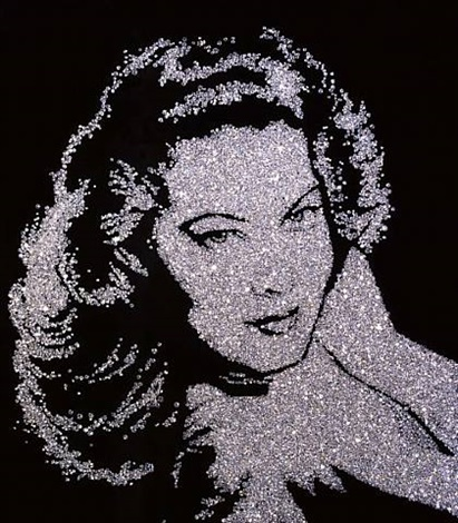 ava gardner (pictures of diamonds) by vik muniz