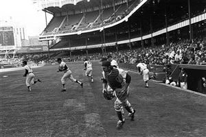 opening day (boston vs. new york), yankee stadium, new york, april 7, 1970 by tod papageorge