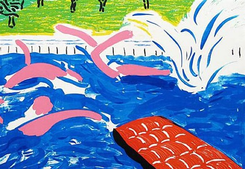 afternoon swimming by david hockney