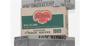 del monte peach halves box by andy warhol