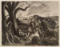 blue valley fox hunt by john stockton de martelly