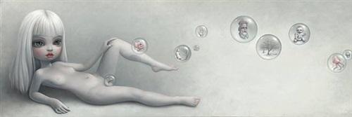 naked - curated by adrian dannatt and paul kasmin by mark ryden
