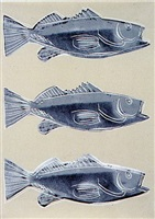 triple fish wallpaper - triple fish by andy warhol